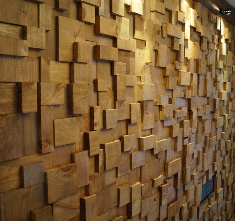 acoustic treatment, acoustic wooden blocks wall, recording studio