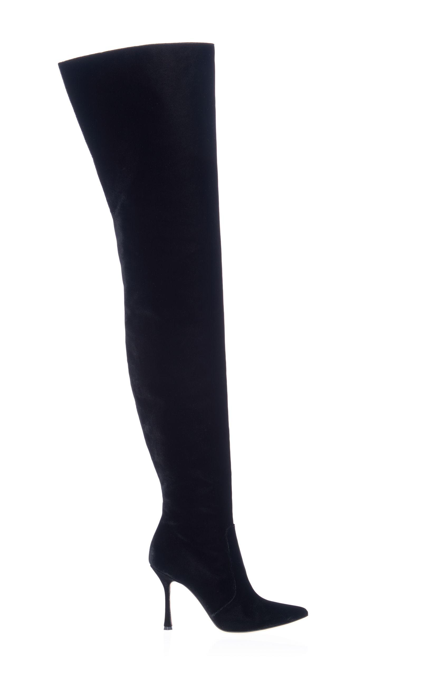 cheap geniue stockist Manolo Blahnik Round-Toe Knee-High Boots explore kDuDE
