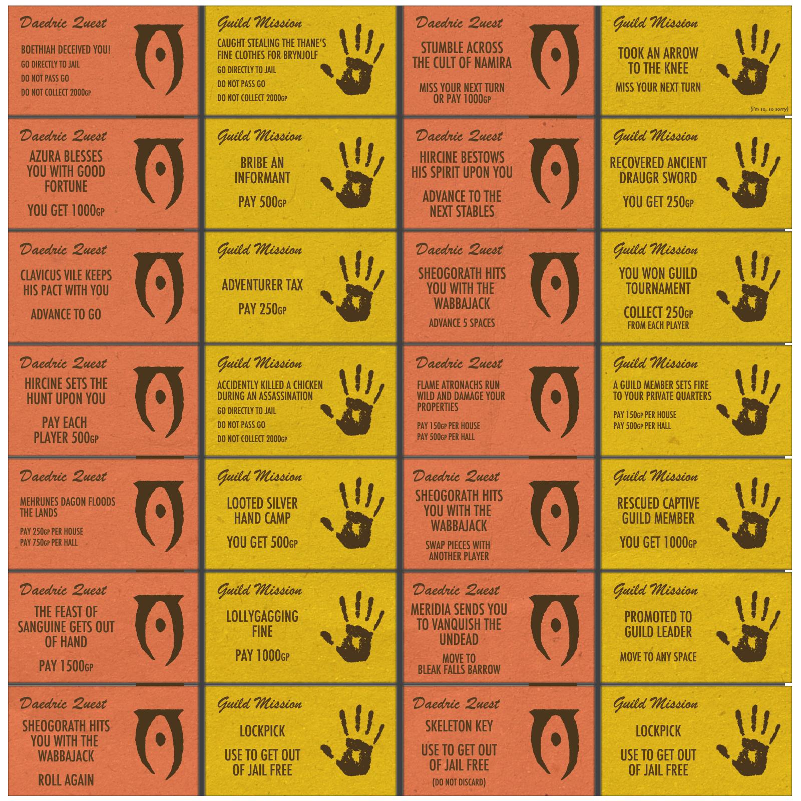 monopoly game cards printable - Redbul.energystandardinternational.co