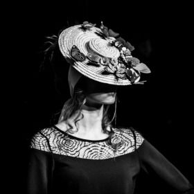 Straw hat by Betsy Hatter at the Norwich Fashion Week Vintage Show. Photo: Joe Black