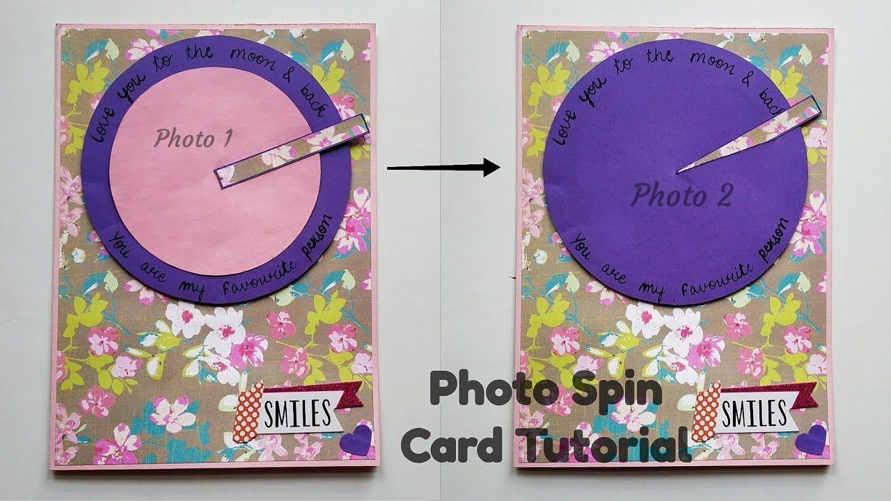 Photo Spin Card Tutorial Spin Card Photo Changing Card By