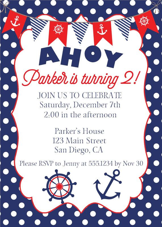 nautical birthday invitation nautical invite anchor invitation