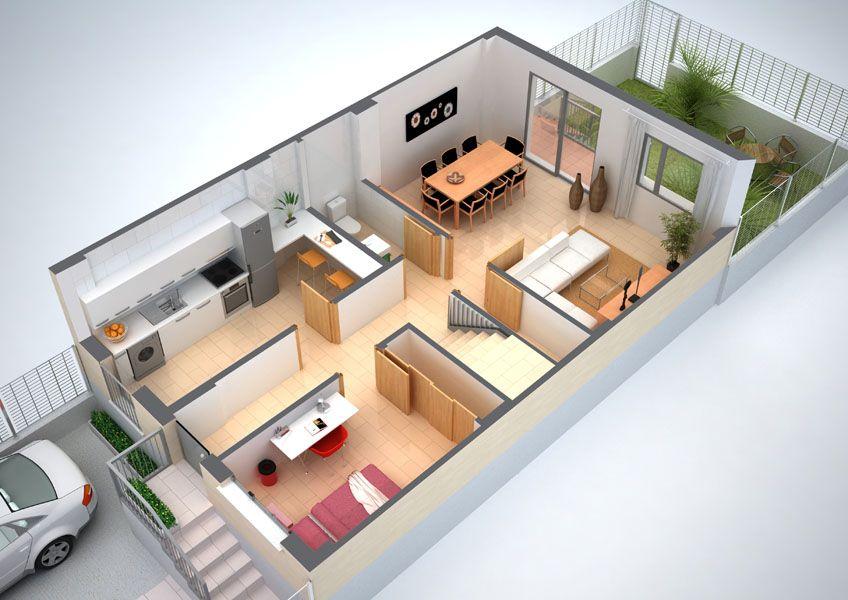 Plantas de casas em 3d gratis casa pinterest plans for Rendering casa gratis