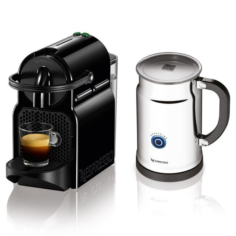 Nespresso Inissia Black Bundle Espresso Machine - A+D40-US-BK-NE ...