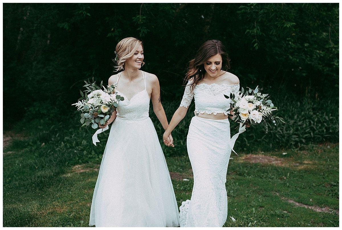 Snow Valley Wedding Ali Janelle Couple Wedding Dress Lesbian Bride Lesbian Wedding Photography [ 806 x 1200 Pixel ]
