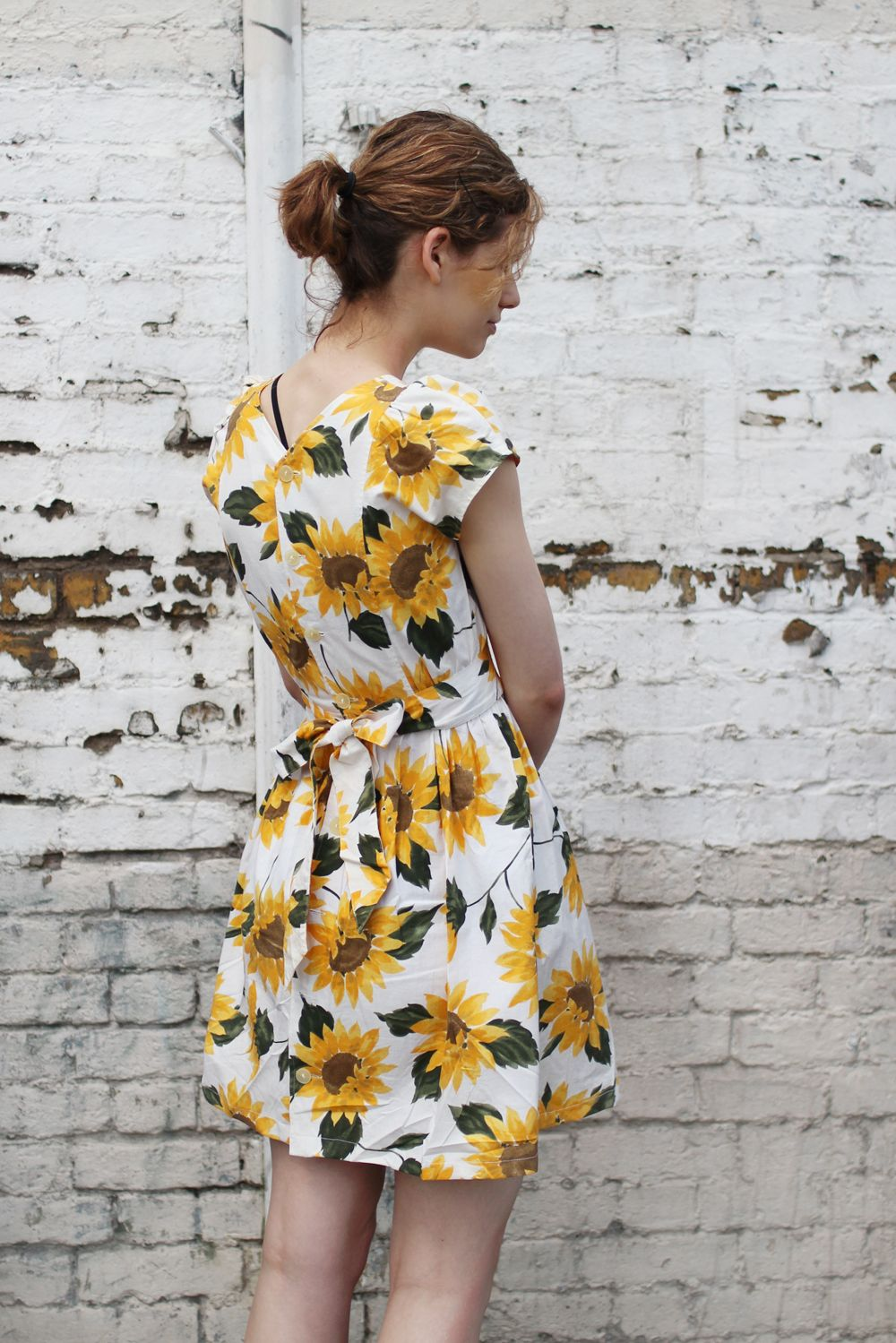 Flower Print Vintage Dress Vestidosdresses Vestidos