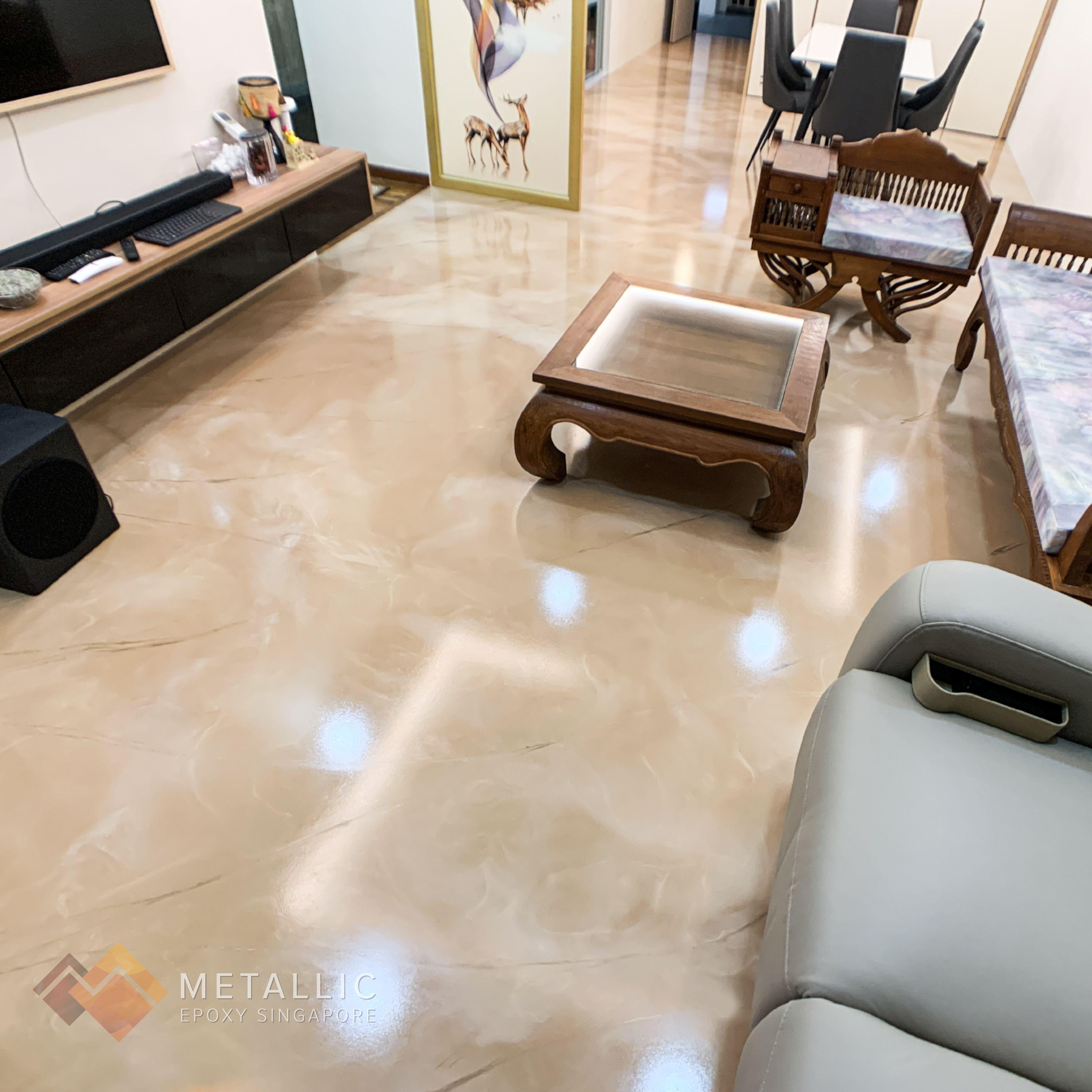 Metallic Epoxy Living Room Flooring Metallic Epoxy Floor Living Room Flooring Floor Design Living room epoxy floors in homes