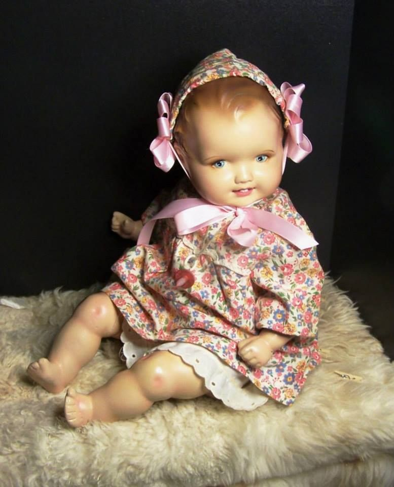 """18"""" German Chalk Composition and Cloth Baby doll"""