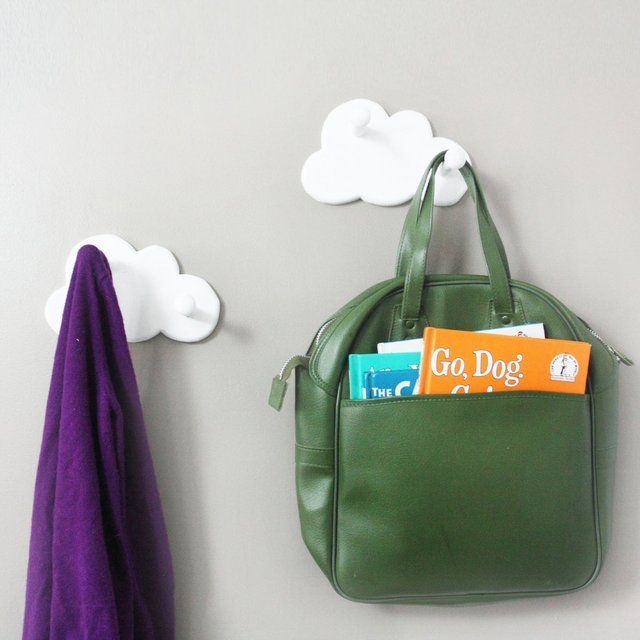 This pair of innovative cloud wall hooks sets the ideal for Wall hooks for kids room