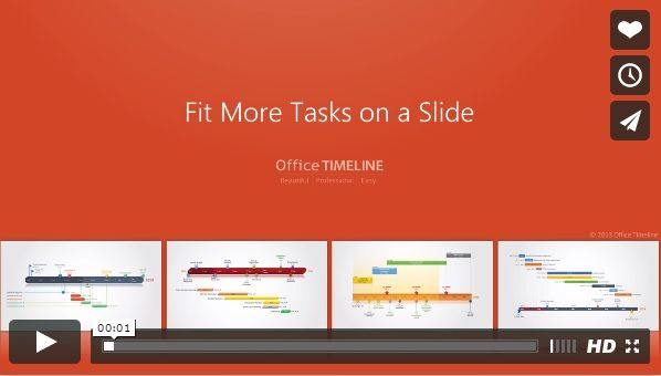 Get more tasks on a slide Learn how to fit more tasks on your Gantt