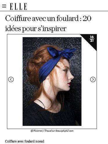 【ELLE】アイデア 15|速攻でトレンド感アップ! スカーフを使ったヘアアレンジアイデア20|エル・オンライン