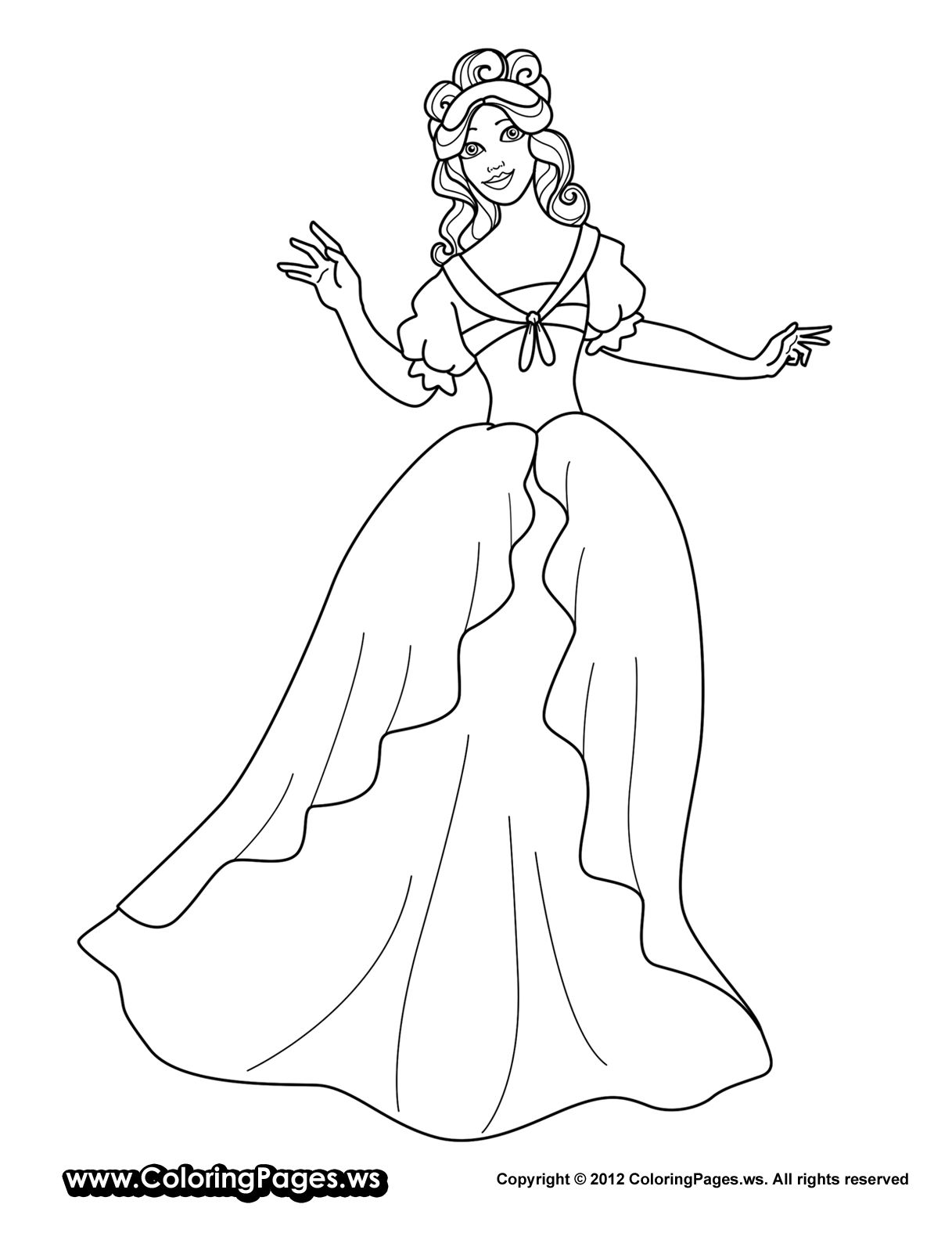 Fairy Princess Coloring Pictures