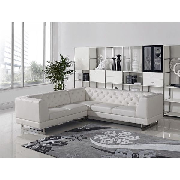 Divani Casa Windsor Modern Leatherette Sectional Sofa Overstock