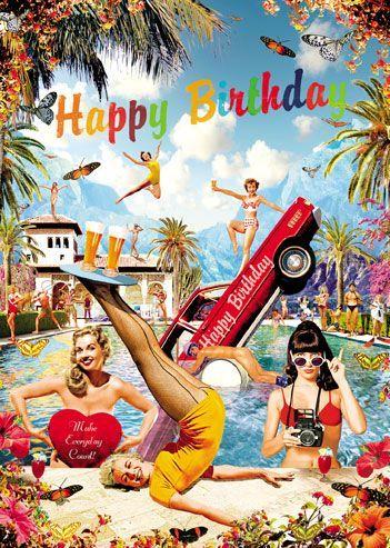 Happy Birthday Pool Boy Verjaardag Vintage Verjaardagsfoto S Verjaardag Afbeeldingen