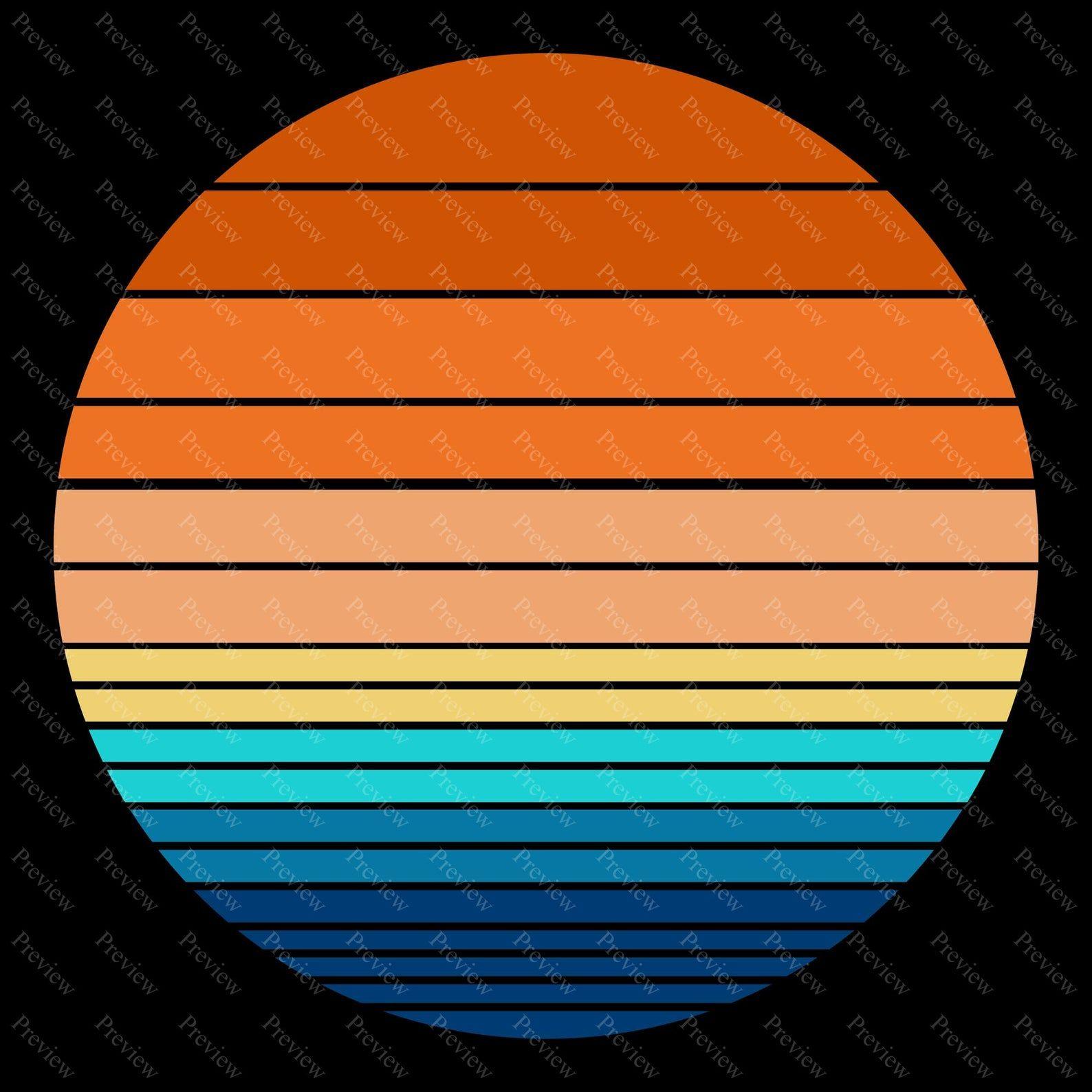 Retro Vintage Sunsets Pack 1 30 Retro Sunset Clipart Png Etsy In 2020 Vintage Colour Palette Retro Color Palette Retro Vintage