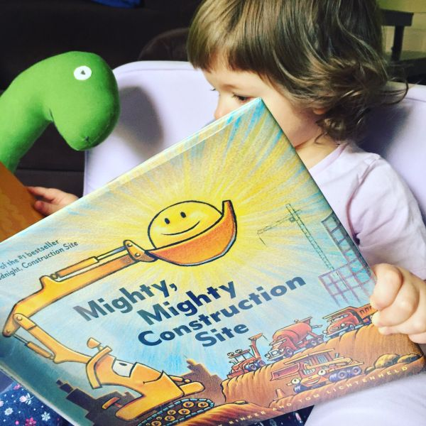 Hello, friends! Our book today is the charming Mighty, Mighty Construction Site, written by Sherri Duskey Rinker and illustrated by Tom Lichtenheld, a fun and informative story about construction v…