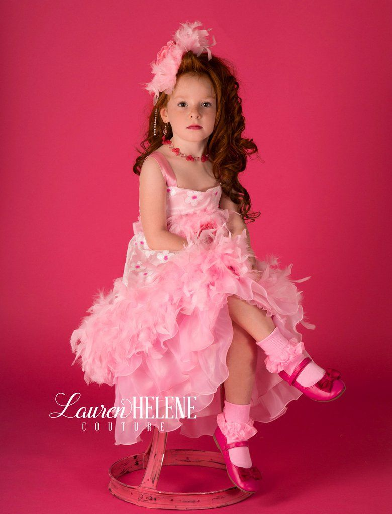 Forever Love' Girls Pink Couture Feather Dress Set - Limited Edition