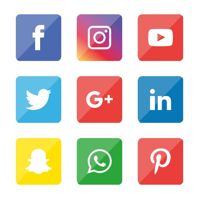 Social Media Icon Set Logo Network Share Business App Like Web Sign Digital Technology Collection Linked Social Media Icons Icon Set Media Icon