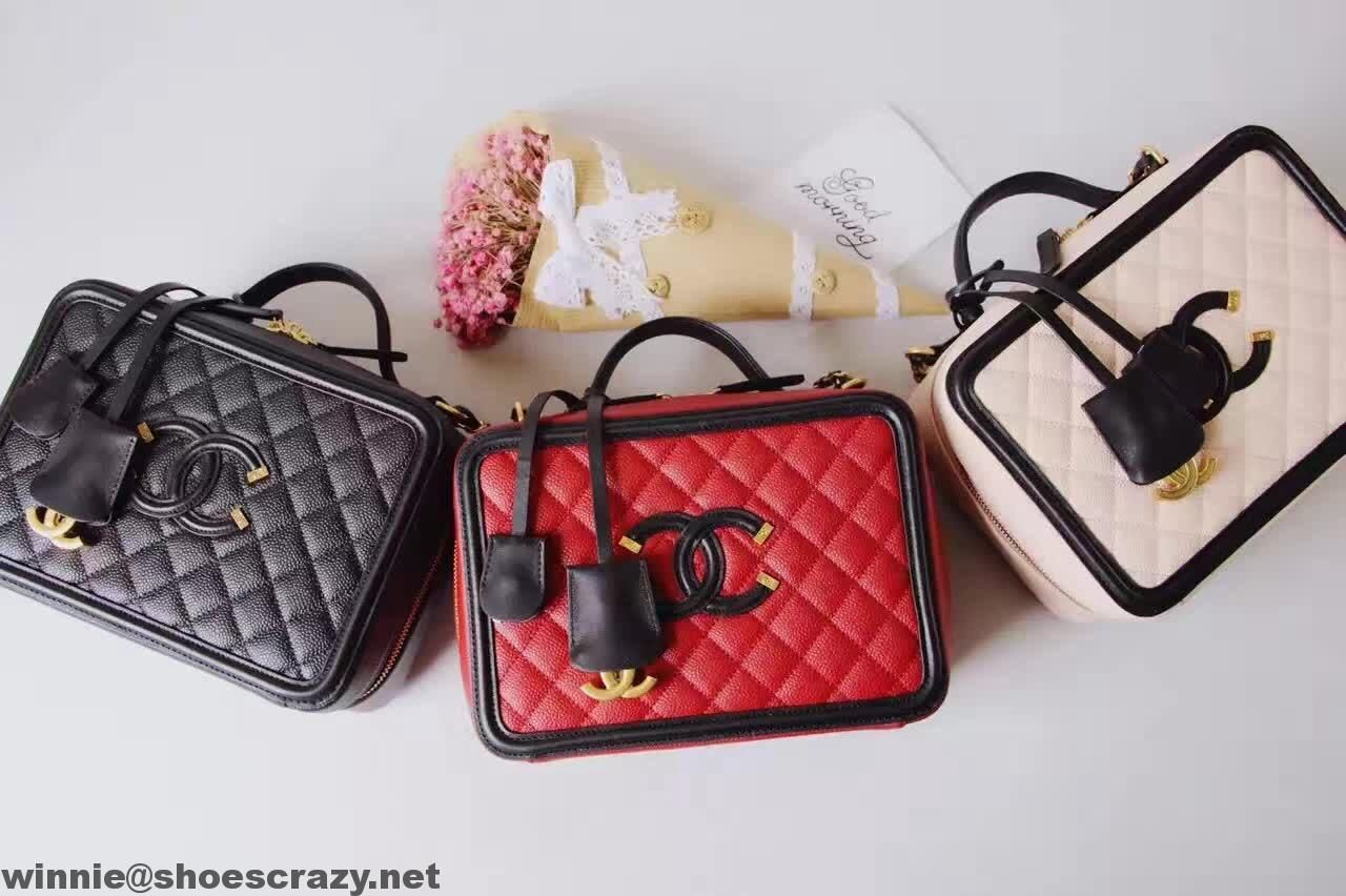 0c05ff0b0000 Chanel CC Filigree Vanity Case Bag | Chanel in 2019 | Bags, Chanel ...