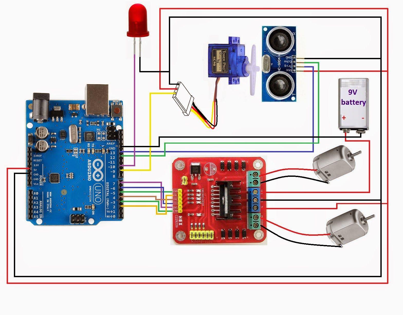 Arduino   L298   Hcsr04