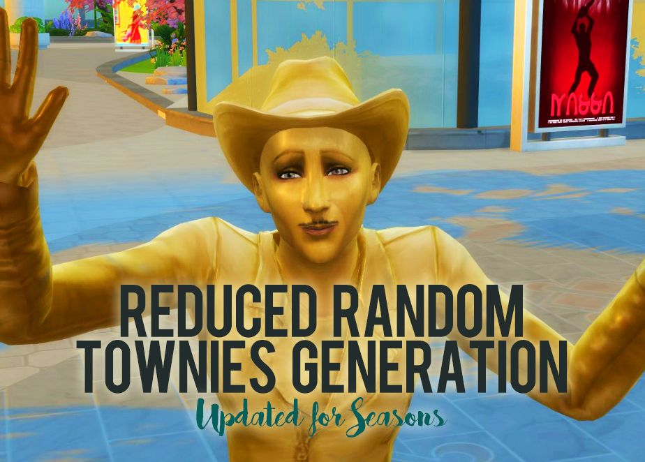 Mod The Sims - Reduced Random Townies Generation (UPDATED 07