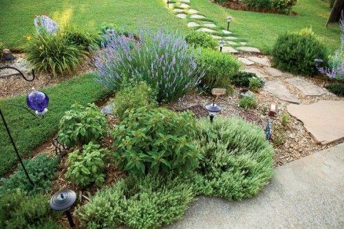 edible landscaping basil thyme