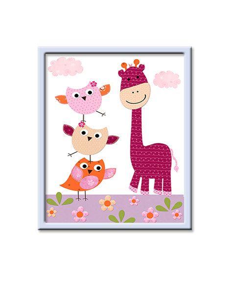 INSTANT Giraffe DOWNLOAD Print Baby Nursery by nataeradownload