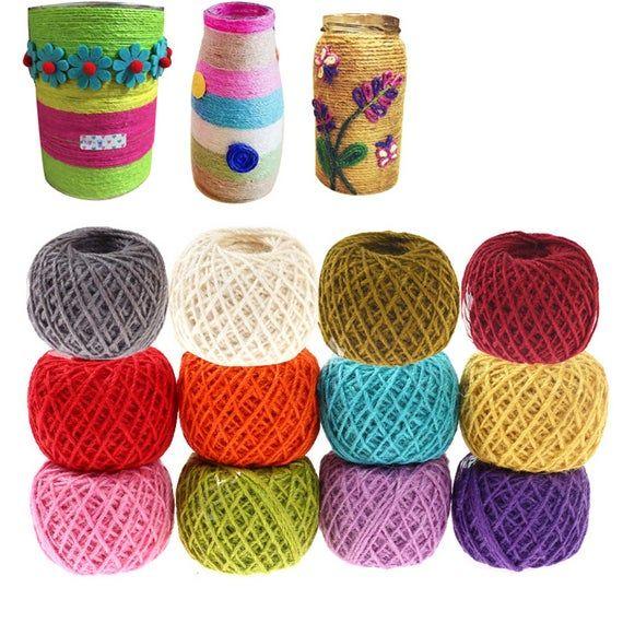 2MM Colored Hemp String Jute Bracelet Twine Cord Hemp Yarn Rope