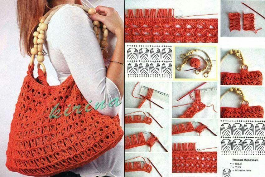 Bolso olas | Crochet bolsos, neceser... | Pinterest | Neceser y Bolsos