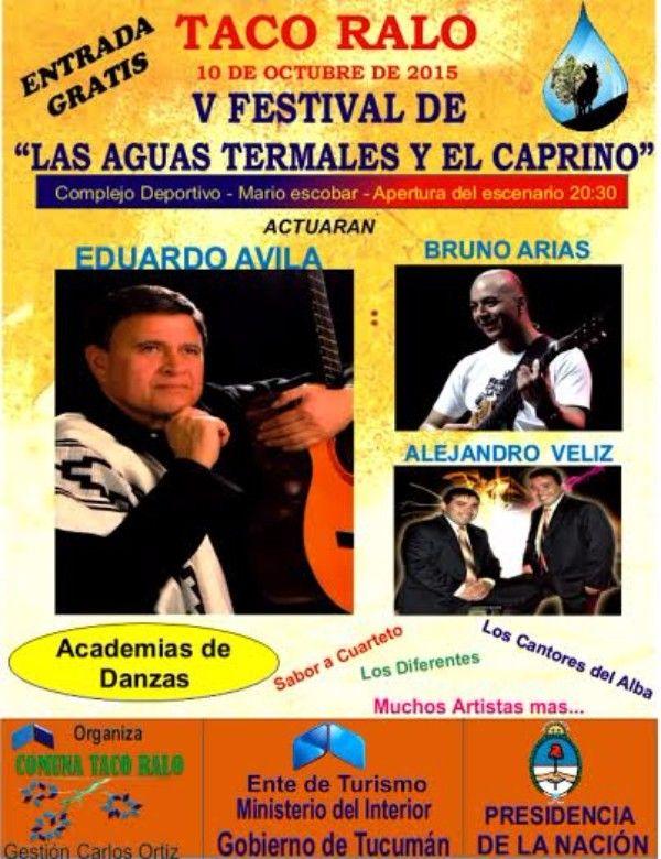 """Taco Ralo celebra su """"5to. Festival de las Aguas Termales y el Caprino 2015"""""""