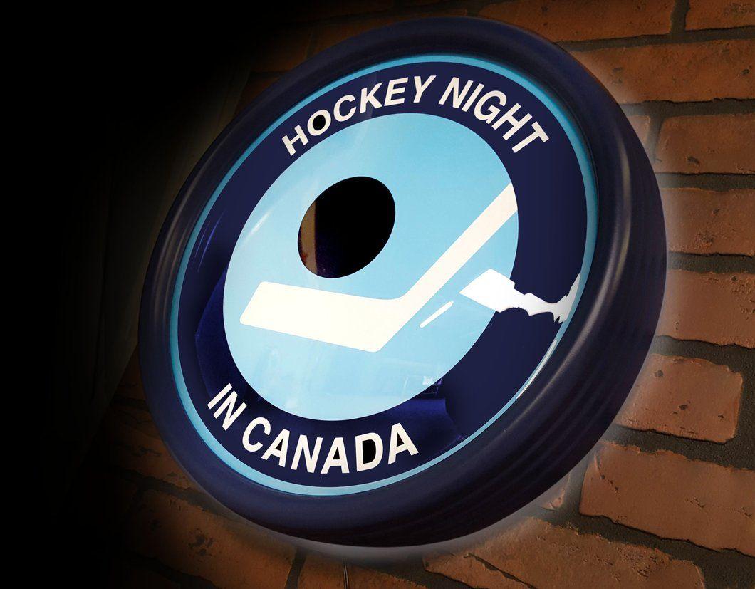 Hockey Night In Canada Officially Licensed Illuminated Sign Retro Logo Available Now Hockey Canada Night