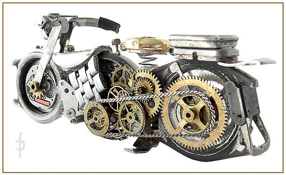 Hey, I found this really awesome Etsy listing at https://www.etsy.com/listing/182322850/steampunk-miniature-motorbike-motocycle