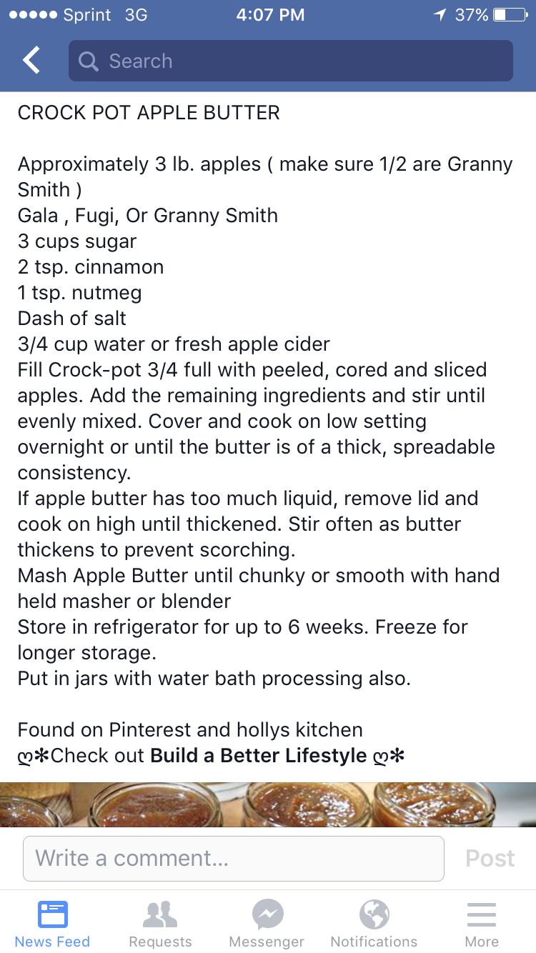 Homemade crock pot apple butter ! Must try this :)