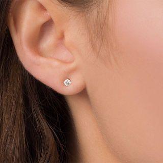 5c78ad5e5 T.W. Diamond Solitaire Stud Earrings in 14K White Gold | 10th: Diamond |  Zales