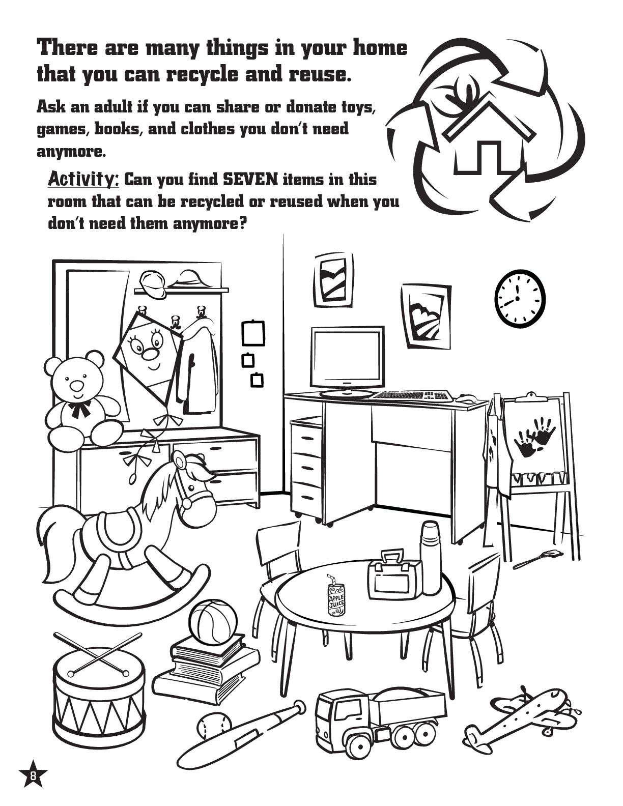 Activity Page To Teach Kids About Recycling Recycling