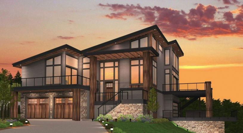 Slant Roof Dog House Plans In 2020 With Images Craftsman House Plans Coastal House Plans House Plans With Pictures