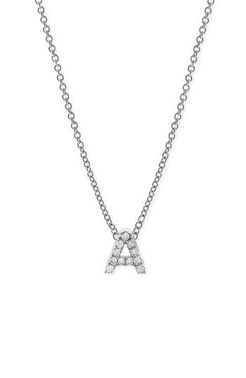 Pav diamond initial pendant necklace initial pendant necklace bony levy pav diamond initial pendant necklace nordstrom exclusive available at nordstrom in aloadofball Images