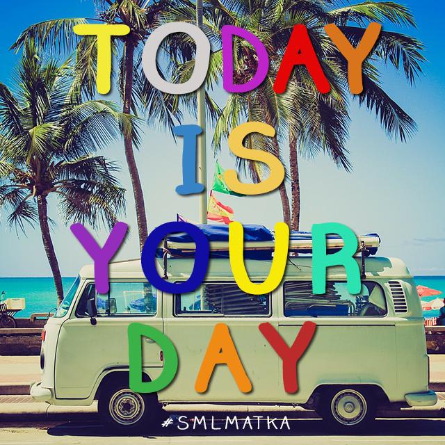 #moi #wordoftheday Today is your Day!!! Mitä aiot tehdä? Päätä mitä haluat tehdä kesänä ja toteuta se! #suomi #finland #smlmatka #kielimatka #kielikurssi #finnishboy #finnishgirl #kielimatkat #today #happy #kesä #matka #travel ^Tiina