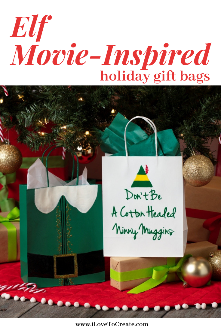 Elf Christmas Gift Bags.Diy Elf Inspired Gift Bags Give Everyone On Your Nice List A