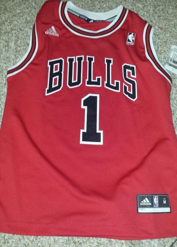 premium selection ed6b8 9ec85 DERRICK ROSE Chicago Bulls NBA BOYS Swingman Jersey RED size ...