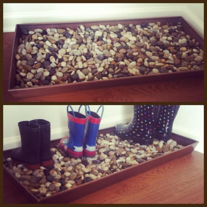 Decorative Boot Tray DONE Pinterest Boot Tray River Stones Gorgeous Decorative Boot Tray