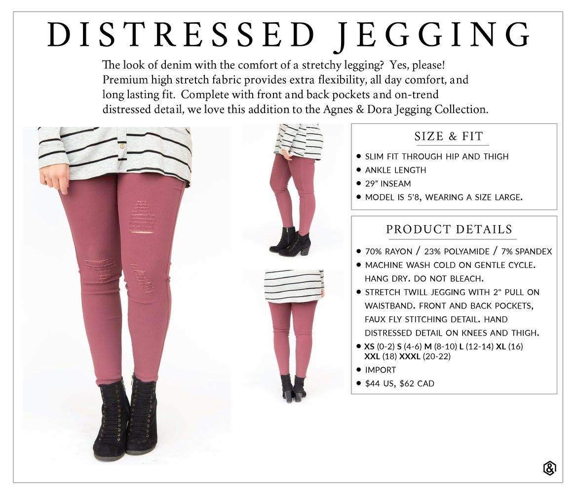 a3b4da0d488ea Agnes & Dora A&D Distressed Leggings Plus Size Chart. Find this Pin and more  on ...