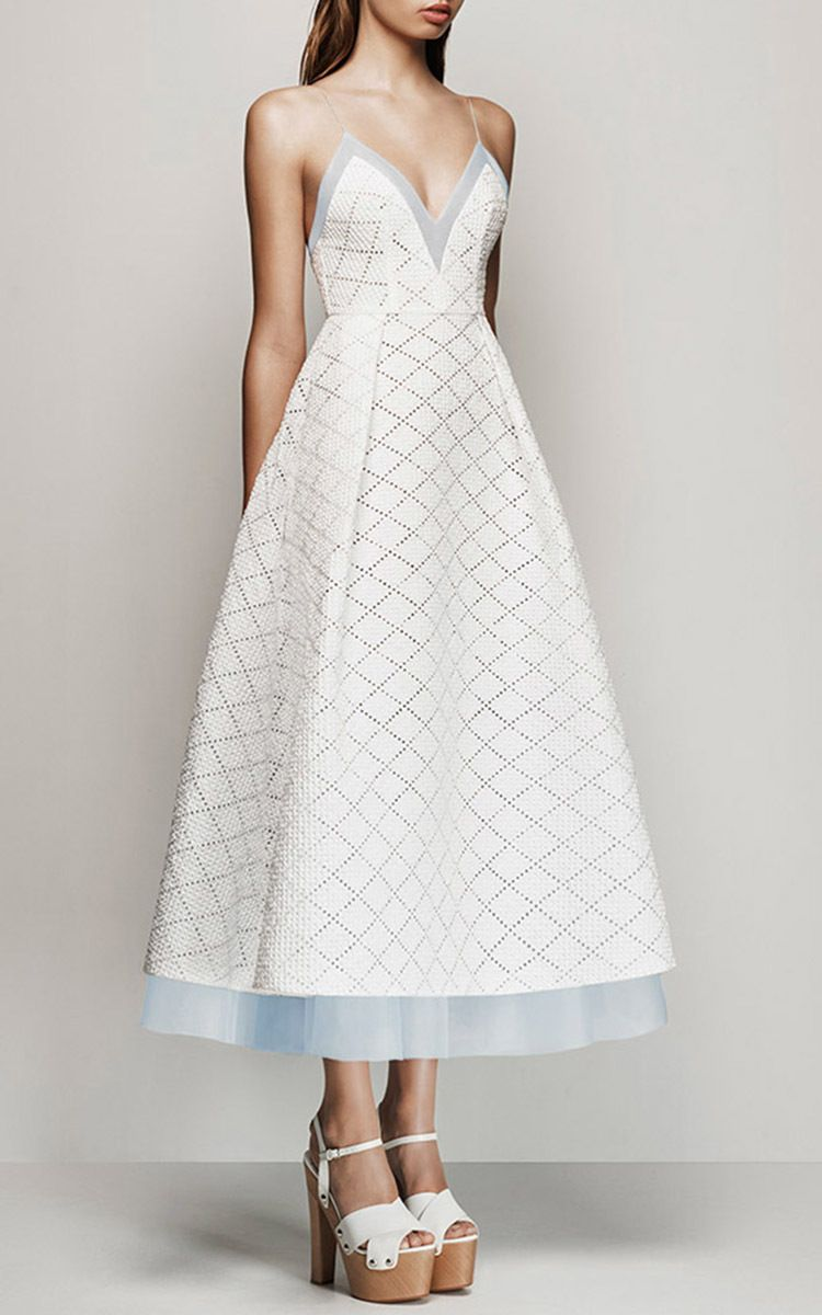 Kiyanna Broderie Midi Dress by Alex Perry | Fashion | Pinterest ...