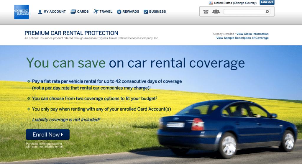 rental car insurance on credit cards Car rental, Rewards