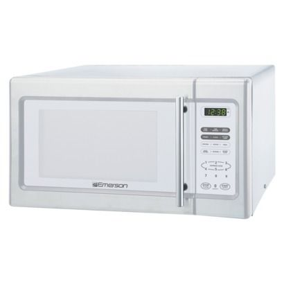 Emerson 900 Watt Microwave Oven White Microwave Oven
