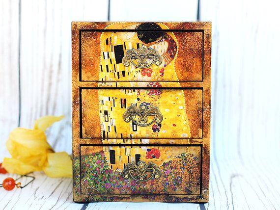 Organizador de joyas árbol de la vida Gustav Klimt el beso
