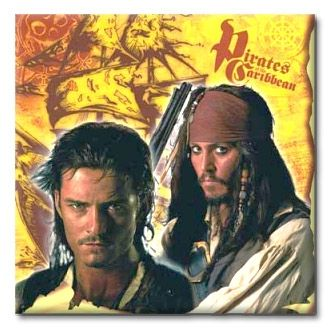 Pirates of the Caribbean Napkins available at www.purepirate.com/