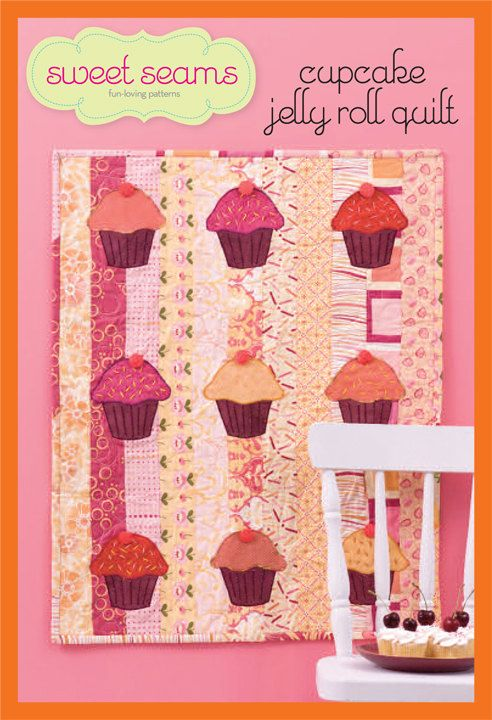Sweet Seams Cupcake Jelly Roll Quilt Patter by SweetSeamsPatterns ... : cupcake quilt patterns - Adamdwight.com