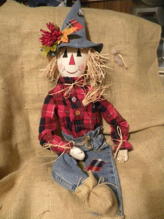 """32/"""" Worth Imports Boy and Girl Scarecrow Set of 2"""