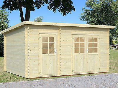 28 mm Gartenhaus ca. 4,5x3 m Gerätehaus Schuppen Blockhaus